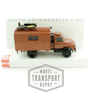 Busch 50807 Hanomag AL 28 Archaeology Expedition Truck in Brown 1:87 Scale Model