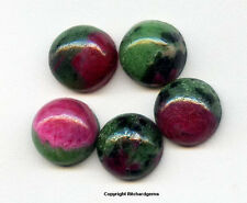 8 MM AFRICAN RUBY WITH ZOISITE ROUND CABOCHON  For ONE