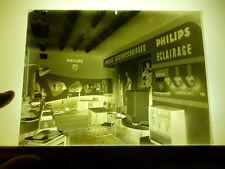 Négatif Photo Stand Foire de Lyon Materiel Electrotechnique PHILIPS Eclairage
