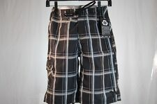 HURLEY DESIGNER GRAPHIC SWIM / SURF / BOARD SHORTS BLACK- PLAID size 28