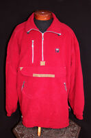 VINTAGE 1980'S UNUSED FILA RED FLEECE SKI PULLOVER SIZE LARGE
