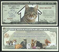 Lot of 25 BILLS - CAT RESCUE MILLION DOLLAR NOVELTY BILL w Gandhi quote