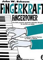 Klavier Noten : SCHAUM Fingerkraft Fingerpower Heft 6 mittelschwer - BOE 3943