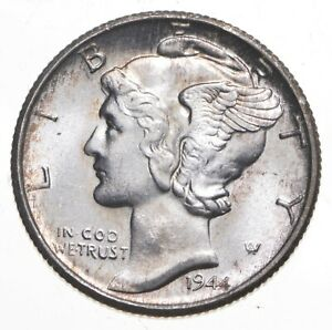 CH Unc 1944-S Mercury Liberty Dime - 90% Silver - From an Original Roll! *213