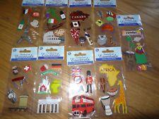 World travel vacation destinion stickers set of 9 packs Sandylion Essentials