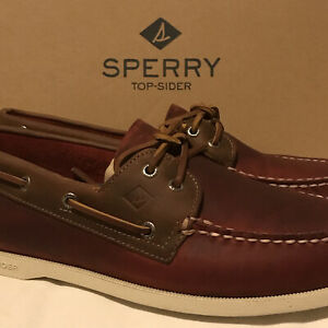 NEW Sperry Authentic Original Men's Size 10.5 M Boat Shoe Wild Horse Red 21715