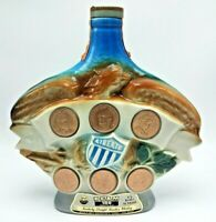 Vintage Jim Beam Liberty Decanter Coins Collectable Empty Whiskey Bottle 1970