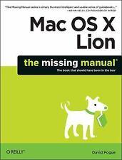 Mac OS X Lion: The Missing Manual, Pogue, David, 1449397492, Book, Acceptable