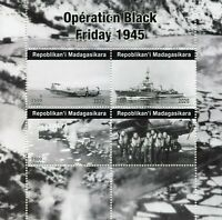 Madagascar Military Stamps 2020 MNH WWII WW2 Operation Black Friday Ships 4v M/S