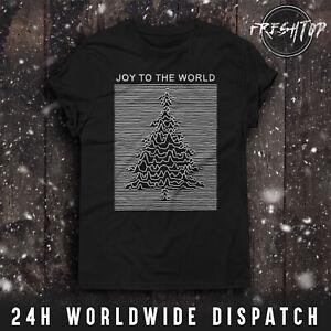 Joy To The World T Shirt Merry Christmas Tree Pulsar Division Secret Santa Claus