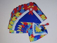 12 AUTISM Awareness BANDANAS bandannas puzzle piece ribbon April fundraisers
