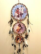 Free Shipping! 3 Tier Dream Catcher 3 Canvas Pictures Indian Girl and Horse