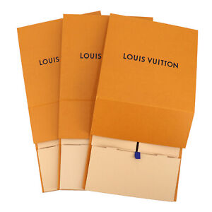 LOUIS VUITTON Empty Gift Box Magnetic Closure 3P Set Medium Orange China-24