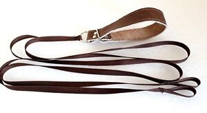 LEATHER Twin Quick Release Slip Lead+handle Lurcher/Greyhound Lamping/Coursing]]