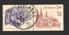 SWEDEN 1993 400TH ANNIV. UPPSALA CONVOCATION SE-TENANT COMP. SET 2 STAMPS USED