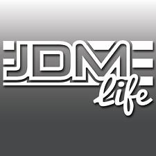 1x JDM Vita a Strisce divertente Giapponese Drift Auto Finestra Adesivo decalcomania in vinile PARAURTI