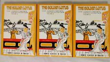 THE GOLDEN LOTUS Chinese Classics in English 3 BOOK SET Chin P'ing Mei EGERTON