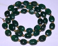 "K-0384 Green Aventurine Natural Gemstones Beautiful Oval Plain Bead 16"" Strand $"
