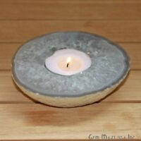 Natural Agate Crystal Votive Cluster Tealight Candle Holder Spiritual Home Décor