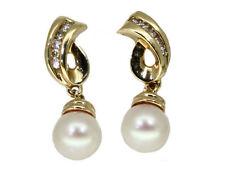 14 Carat Yellow Gold SI2 Fine Diamond Earrings