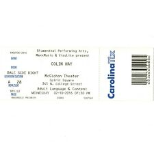 Men At Work Colin Hay Concert Ticket Stub Charlotte Nc 2/10/16 Who Can It Be Now