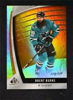 2017-18 17-18 UD Upper Deck SP Game Used Orange Rainbow #65 Brent Burns /129