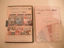 Click, Print, Go CD ROM's x 2 (Tattered Lace and My Craft Studio) Brand New
