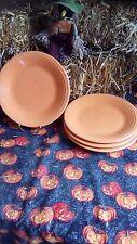 "4 DINNER PLATES set lot tangerine HOMER LAUGHLIN FIESTA WARE 10.5"" NEW"