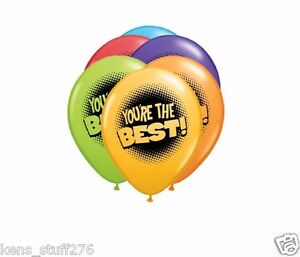 You're the Best Latex Balloons Father's Day Mothers Day Teacher Coach Graduation
