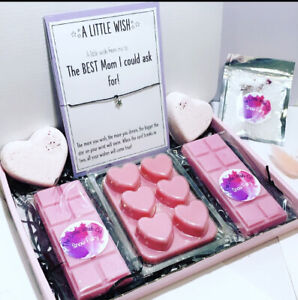Birthday Wishes Mum, Auntie, Pamper Hamper GIFTS  Soy Wax Melts & Bath Bombs