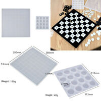 DIY Epoxy Resin Chessboard Chess Piece Silicone Mold