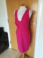 Ladies MYLEENE KLASS Dress Size 10 Pink Wiggle Party Evening Wedding