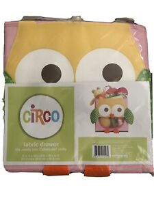 Circo, Pink, Owl, Fabric Drawer Container, Cube, Brand New