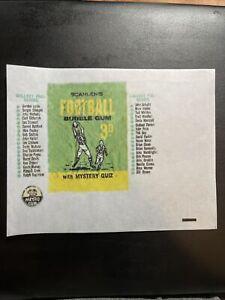1965 Scanlen's Football VFL Cards Gum Wax Wrapper Print