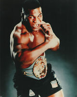 GLOSSY PHOTO PICTURE 8x10 Iron Mike Tyson Posing with The Belt