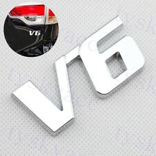 Chrome Metal Decal Sticker 3D V6 V 6 Logo Emblem Badge Car Accessories Decorate