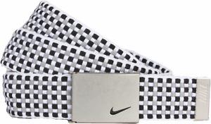 Nike Womens Woven Web Belt, Black/Grey, One Size