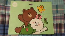 "Line Friends Official Green Large Shopping Bag (21""X21"")"