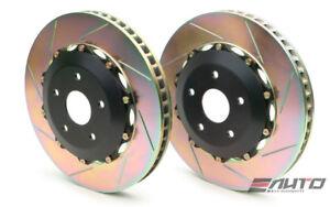 BREMBO Front 2pc Rotor Disc Upgrade Kit 365x34 Slot Gallardo 03-14 R8 08-14
