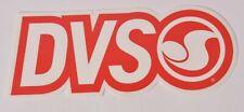 "DVS SHOE COMPANY LOGO STICKER 7.5"" X 3"" $5 Red dvs skate moto snowboarding"