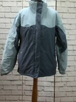 Women's Pale Blue Fleeced Lined Convert Columbia  Ski Jacket Size Large