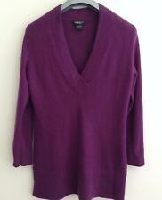 LORD & TAYLOR long cashmere sweater M purple pullover