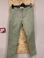 Next Mens Green Stretch Chino Slim Size W: 32 R