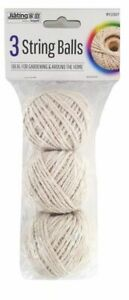 Pack of 3 Household Home Office Ball Of Cotton String Twine Rope FREE DISPATCH