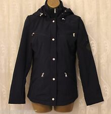 Ralph Lauren Casual Hooded Funnel Neck Zip Bomber Jacket Navy  XS 8 36