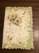 Antique 1902 Victorian Era A Christmas 🎄 Message Card Beautiful 10 Pages Rare