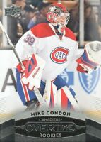 2015-16 Upper Deck Overtime Hockey #114 Mike Condon RC Montreal Canadiens