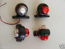 4x 12V LED Red White Side Marker Lights Lamps Truck Horsebox Box Caravan Van Bus