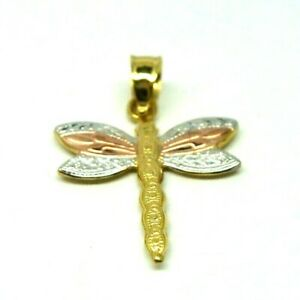 9ct Yellow / Three Colour Gold Dragonfly Pendant       1103