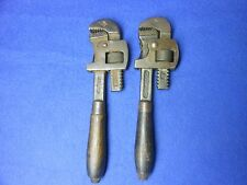 """Two #8 Popular Morco 7"""" Moore Drop Forging Stillson Pipe Monkey Wrench"""